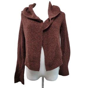 Eileen Fisher Wool Silk Sweater Cardigan Petite XS